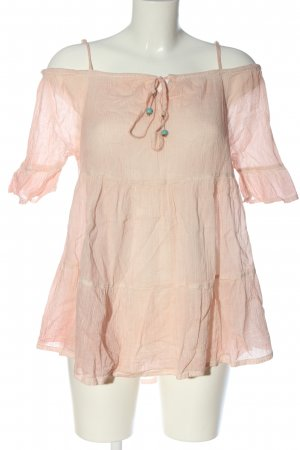 Gina Short Sleeved Blouse nude casual look