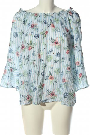 Gina Kurzarm-Bluse Allover-Druck Casual-Look