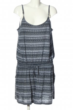 Gina Kurzer Jumpsuit blu-bianco stampa integrale stile casual