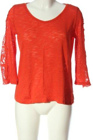 Gina Blouse à manches longues orange clair style décontracté