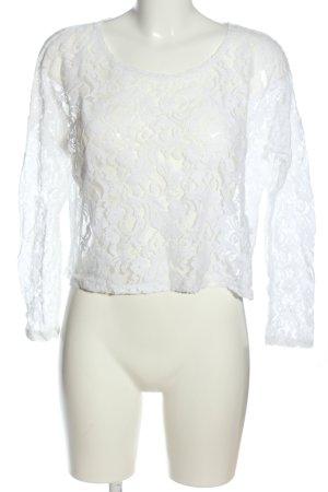 Gina Blouse à manches longues blanc style décontracté