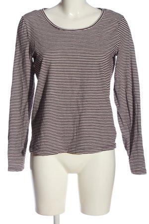 Gina Langarm-Bluse braun-weiß Streifenmuster Casual-Look