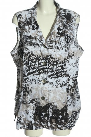 Gina Laura ärmellose Bluse abstraktes Muster Casual-Look