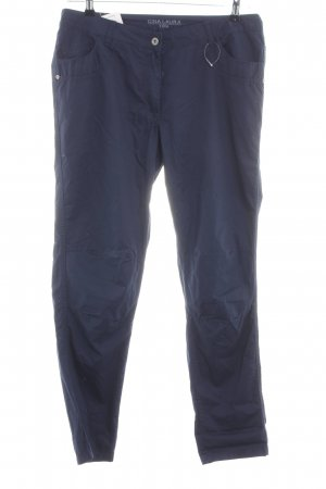 Gina Laura Pantalone cinque tasche blu stile casual
