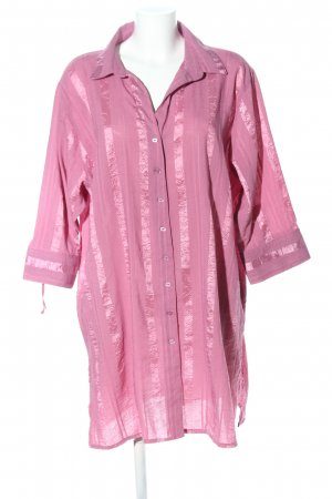 Gina Laura Hemd-Bluse pink Streifenmuster Business-Look