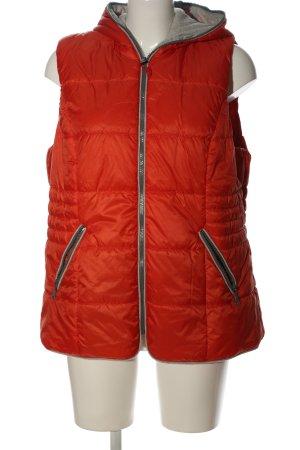 Gina Laura Capuchon vest rood quilten patroon casual uitstraling