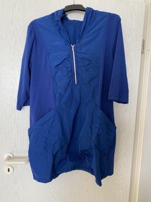 Gina Laura Abito con cappuccio blu-blu neon
