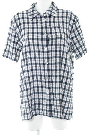 Gina Laura Shirt met korte mouwen geruite print casual uitstraling