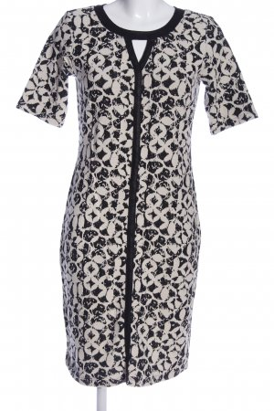 Gina Laura Kurzarmkleid schwarz-weiß abstraktes Muster Casual-Look