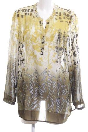 Gina Laura Langarm-Bluse abstraktes Muster Casual-Look