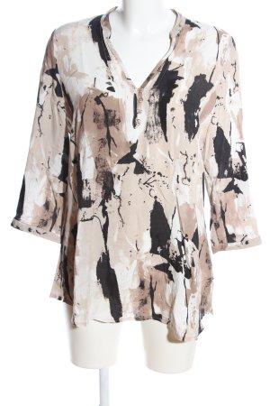 Gina Laura Langarm-Bluse abstraktes Muster Business-Look