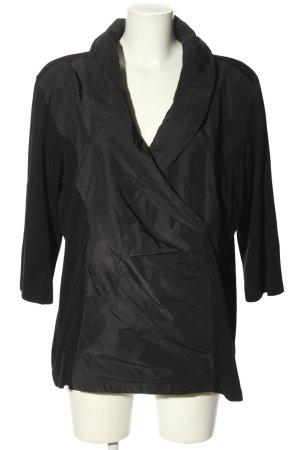 Gina Laura Langarm-Bluse schwarz Casual-Look