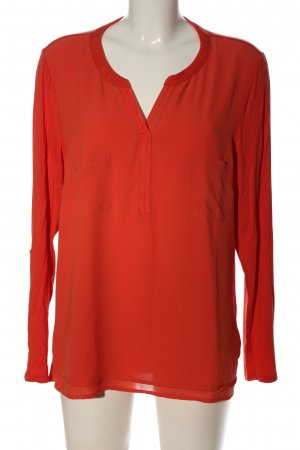 Gina Laura Langarm-Bluse rot Casual-Look
