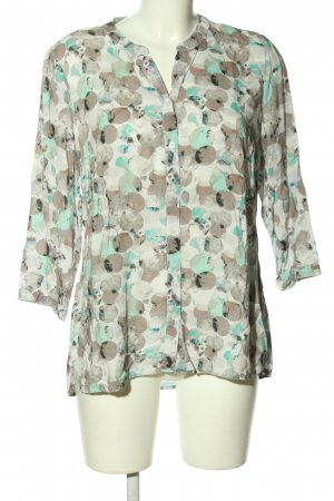 Gina Laura Langarm-Bluse Allover-Druck Casual-Look