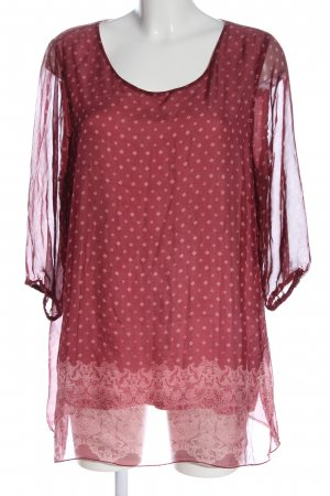 Gina Laura Long-Bluse rot abstraktes Muster Elegant