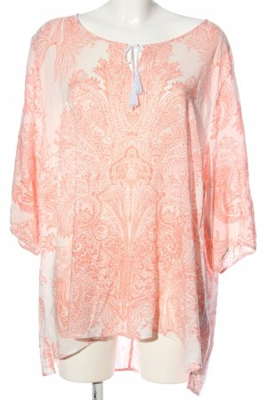 Gina Laura Long Blouse cream-nude mixed pattern casual look
