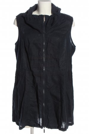 Gina Laura Long Knitted Vest blue casual look