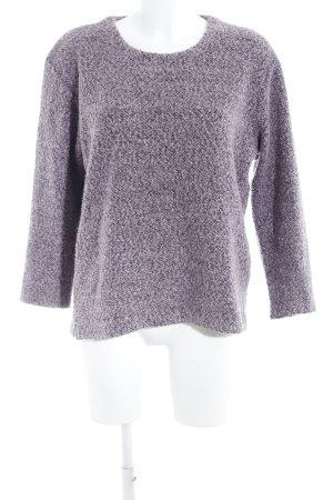 Gina Laura Oversized Pullover blasslila-dunkelgrau meliert Casual-Look