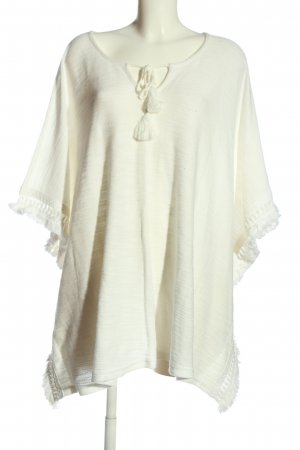 Gina Laura Poncho wit casual uitstraling