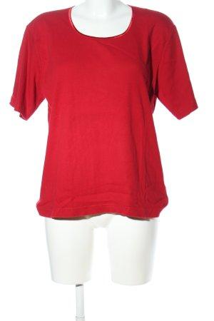 Gina Laura Prążkowana koszulka czerwony W stylu casual