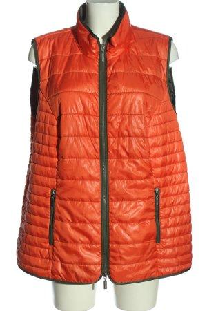 Gina Laura Gewatteerd vest licht Oranje-bruin quilten patroon casual uitstraling