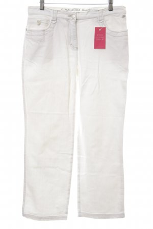 Gina Laura Straight-Leg Jeans weiß Casual-Look