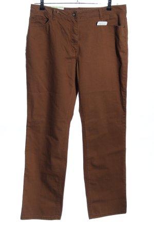 Gina Laura Straight-Leg Jeans bronzefarben Business-Look