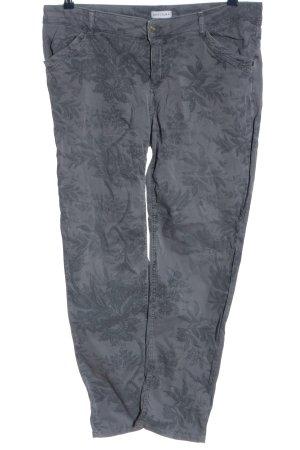 Gina Laura Straight-Leg Jeans hellgrau Motivdruck Casual-Look