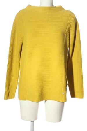 Gina Laura Maglione lavorato a maglia giallo pallido punto treccia elegante
