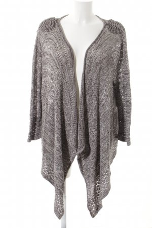 Gina Laura Knitted Wrap Cardigan light brown-white flecked