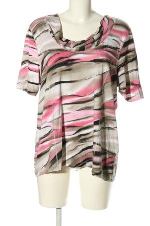 Gina Laura T-Shirt abstraktes Muster Casual-Look