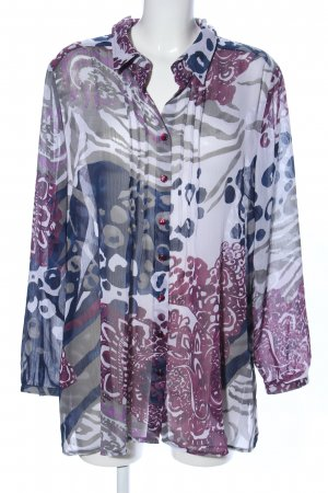 Gina Laura Transparenz-Bluse abstraktes Muster Casual-Look