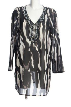Gina Laura Tunikabluse schwarz-weiß Allover-Druck extravaganter Stil