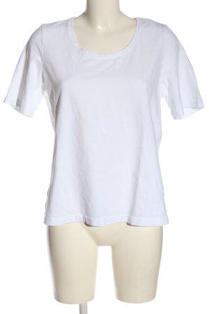 Gina Laura U-Boot-Shirt weiß Casual-Look
