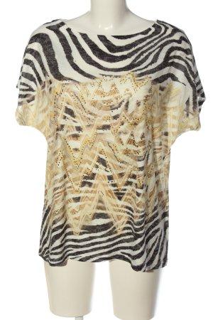 Gina Laura U-Boot-Shirt Allover-Druck Casual-Look
