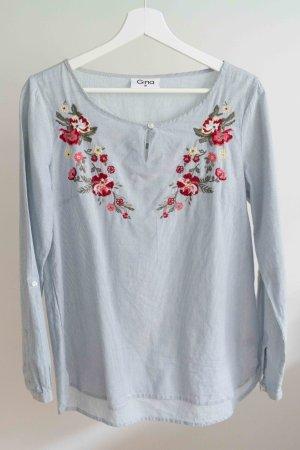 Gina Leichte Bluse mit Blumenstickereien