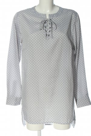 Gina Long Blouse white-light grey allover print casual look