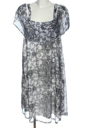 Gina Blusenkleid weiß-hellgrau abstraktes Muster Casual-Look