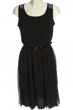 Gina Minikleid schwarz-wollweiß Allover-Druck Elegant