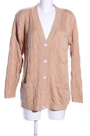 Gina Monti Strick Cardigan nude Zopfmuster Casual-Look