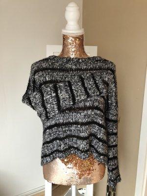 Gina Grof gebreide trui zwart-wit