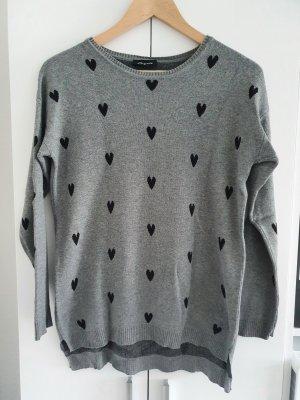 Gina Maglione lavorato a maglia grigio-nero