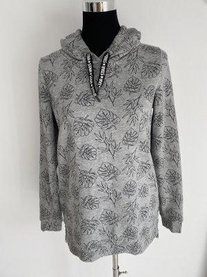Gina Hooded Sweater grey-black