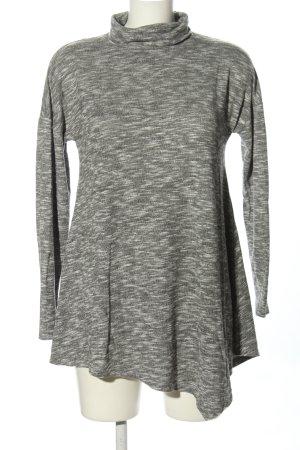 Gina Robe pull gris clair moucheté style décontracté