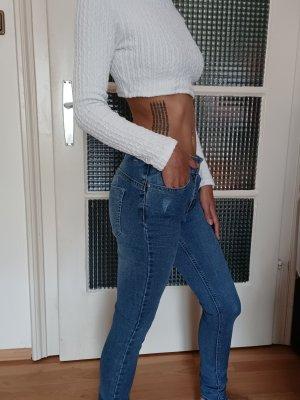 Gina High Waist Jeans cornflower blue