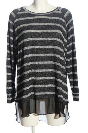 Gina Crewneck Sweater light grey-black allover print casual look