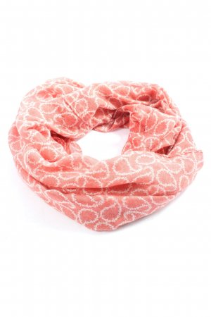 Gina Tube Scarf pink-white casual look