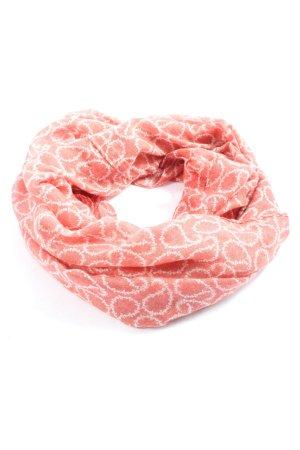 Gina Écharpe tube rose-blanc style décontracté