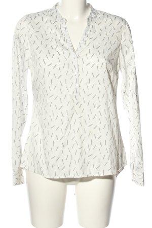 Gina Camicetta da notte bianco-grigio chiaro stampa integrale stile casual