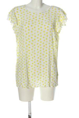 Gina Camicetta da notte bianco-giallo pallido motivo a pallini stile casual